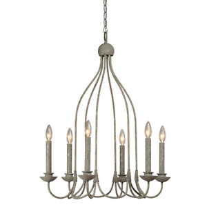 Pendant Chandelier Bird Cage Candelabra Design 6 Bulb Light Fixture