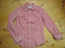 Almsach Bluse Trachtenbluse Bluse rot weiß Gr. 50