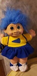 "Vintage Russ Large 13"" Troll Doll Cheerleader LOOK!"