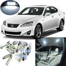 13pcs White Interior LED Light Package Kit for Lexus IS250, IS350, ISF 2006-2013