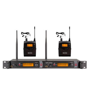Wireless In Ear Monitor System UHF Professional Studio 2 Receiver 2*40 Channel