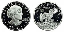 1981 S GEM BU PROOF SUSAN B. ANTHONY DOLLAR BRILLIANT UNCIRCULATED SBA COIN PF