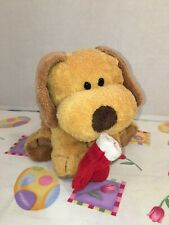 "VGUC-9"" Ty Pluffies GOODIES puppy dog Red Stocking Plush"