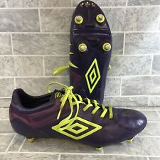 Purple/lime Green Umbro UX-1 Club SG Football Boots Size UK 11 GC