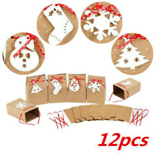 12pcs Festival Wedding Party Candy Cookie For Christmas Portable Treat Bags