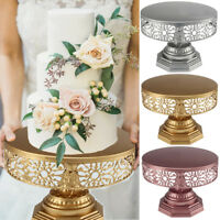 Retro Wedding Cake Stand Round Metal Event Party Display Pedestal Plate Tower