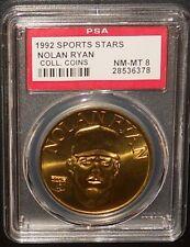 PSA 8 NM-MT 8 - Nolan Ryan 1992 Sport Stars Baseball Coins Texas Rangers