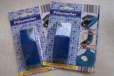 2 Stück - Tabletten - Teiler - Pillenteiler - schneider, in blau