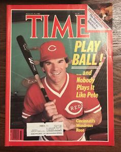August 19, 1985 Time Magazine - Pete Rose Cover - Cincinnati Reds