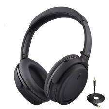 Bluetooth Wireless Wired Foldable Stereo Headphones w/Active Noise Cancellation