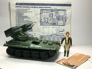 GI Joe Wolverine 100% Complete w/ Blueprints Cover Girl File Card 1983