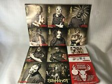 More details for slipknot - 10  - heavy metal band xmas photo cards collectors