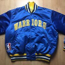 Vinatge Golden State Warriors Throwback Satin Starter Jacket XL Extra Large 80s