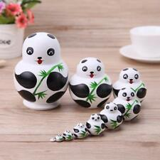 10pcs/Set Panda Russian Matryoshka Doll Hand Painted Nesting Dolls Gift Basswood