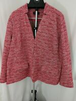 Talbots red and white  Tweed jacket / blazer  24 W Womens
