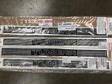 4 PC 2007-2019 Tundra Crew Max Platinum Door Sill Protectors Chrome Black Satin
