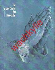 Le spectacle du monde n°93 du 12/1969 Israël May Quant Feydeau Brecht Beckett