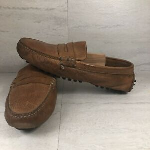 Cole Haan Mens Driving Shoes Moc Sz 9 M Brown Leather Slip On Loafer