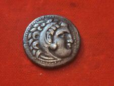 Drachme alexandre le grand tête de lion 336-323 av jc. Monnaie antique.