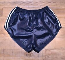 ADIDAS VINTAGE NYLON SHINY WET LOOK RUNNING RETRO 80s 70s SHORTS SPRINTER D4 XS