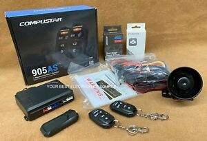NEW Compustar CS905-AS 1-Way Remote Start & Security System w/ 4 Button Remotes