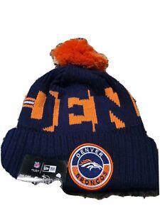 Denver Broncos NFL 2020 Beanie Warm Winter Knit Pom Cap Hat  *NWT*