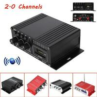 Mini LED Display Bluetooth Power Amplifier 2.0 Channel HiFi Audio AMP 40W*2 Home