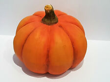 Kürbis Keramik Deko Herbst Gartenfigur Dekofigur orange Halloween wie echt
