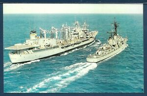 USNS MISSISSINEWA T-AO 144  Fleet Oiler UNREP with a Destroyer