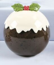 Christmas Tableware Christmas Pudding Cookie Jar Biscuit Barrel Paint Fault