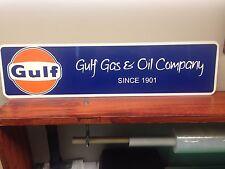 "GULF Vintage Style Aluminum Sign  6"" x 24"""