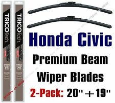 1988-1991 Honda Civic Wipers 2-Pack Premium Beam Blade Wiper Blades 19200/19190