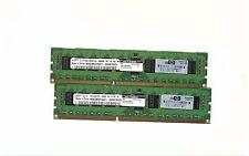 LOT 4GB (2X2GB) HP 2GB DDR3 PC3-10600 ECC RAM  500202-061 SERVER ONLY !