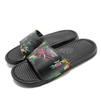 Nike Benassi JDI Print Black Floral Just Do It Slide Slipper Sandal 631261-023