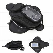 "Magnetic Motorcycle Motorbike Oil Fuel Tank Bag Big For 4.7"" 5.5"" Phones Black"