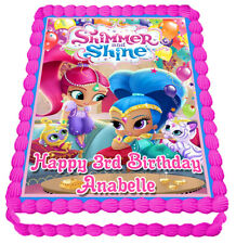 Shimmer and Shine Edible Icing Image Personalised Party Decoration Cake Topper