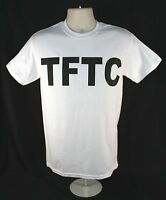 TFTC Geocaching T-Shirt White with Black Letters Geocache Shirt M XL 2X 3X Cache