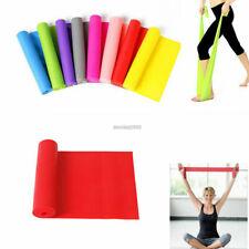 2m Long Elastic Yoga Pilates Band Stretch Resistance Exercise Fitness Belt Strap