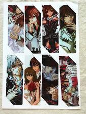 8pcs/set PVC bookmarks of Anime Vampire Knight KurosuKuran Yuki/Kiryu Zero