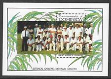 DOMINICA 1992 BOTANICAL GARDENS CENTENARY CRICKET Souvenir Sheet MNH