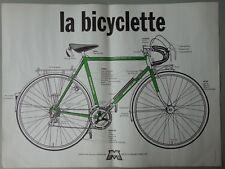 La Bicyclette Motobécane 1976 original vintage bike bicycle advertising poster
