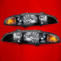 New 97-99 Mitsubishi Eclipse Rs Gs Headlights Headlamps Set Pair New