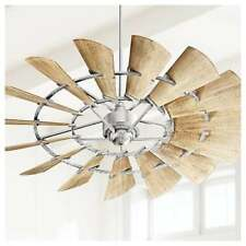 """NEW Quorum Windmill Ceiling Fan 72"""" Light Kit Options Available 97215 Galvanized"""