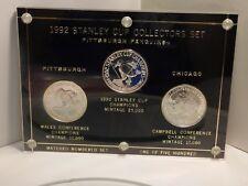 1992 STANLEY CUP CHAMPIONS PENGUINS 3 SILVER OZ .999 FINE COIN SET
