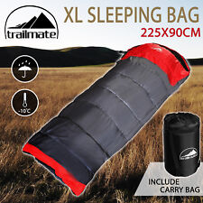 Outdoor Camping Sleeping Bag Thermal Hiking Tent Winter -10°C XL Single 220x90cm