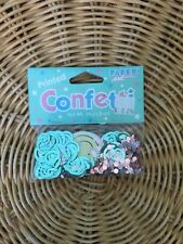 baby shower confetti / blue and pink / gender reveal / baby faces gender neutral