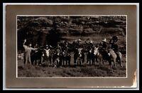 COWBOYS ON DONKEYS ROPES REAL PHOTO POSTCARD RPPC
