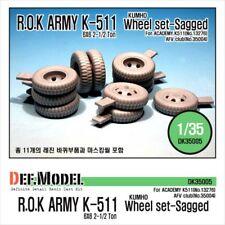 DEF Model 1:35 ROK K511 Wheel Set for Academy AFV Club Detail Set #DK35005