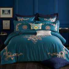 Luxury Bedding Set King Queen Egyptian Cotton 4/6pcs Boho Duvet Cover Bed sheet