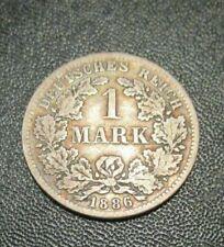 1 Mark Deutsches Reich Kaiserreich 1886 F @ 5 g @Silber Münze@ Originalfoto